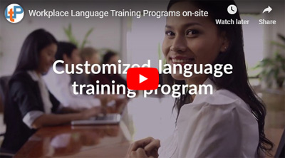 Workplace Language Training Programs on-site